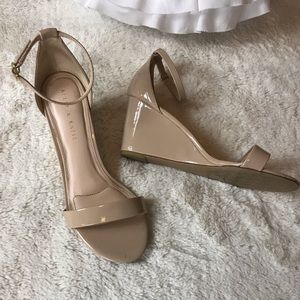Kelly + Katie Addisson Nude Wedge Ankle Strap 9